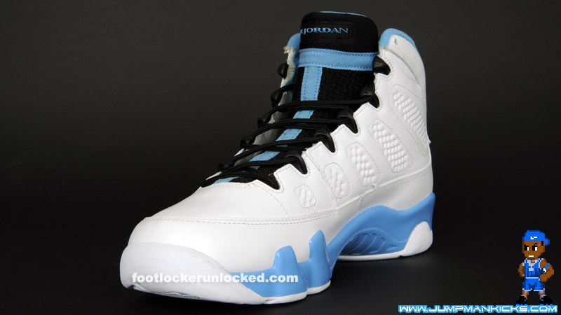 check out f5936 9e3c9 NIKE AIR JORDAN 9 IX RETRO SIZE 13 WHITE BLACK UNIVERSITY POWDER BLUE