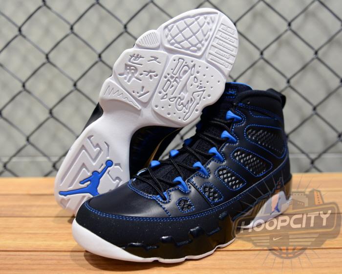 air jordan 9 blue and black