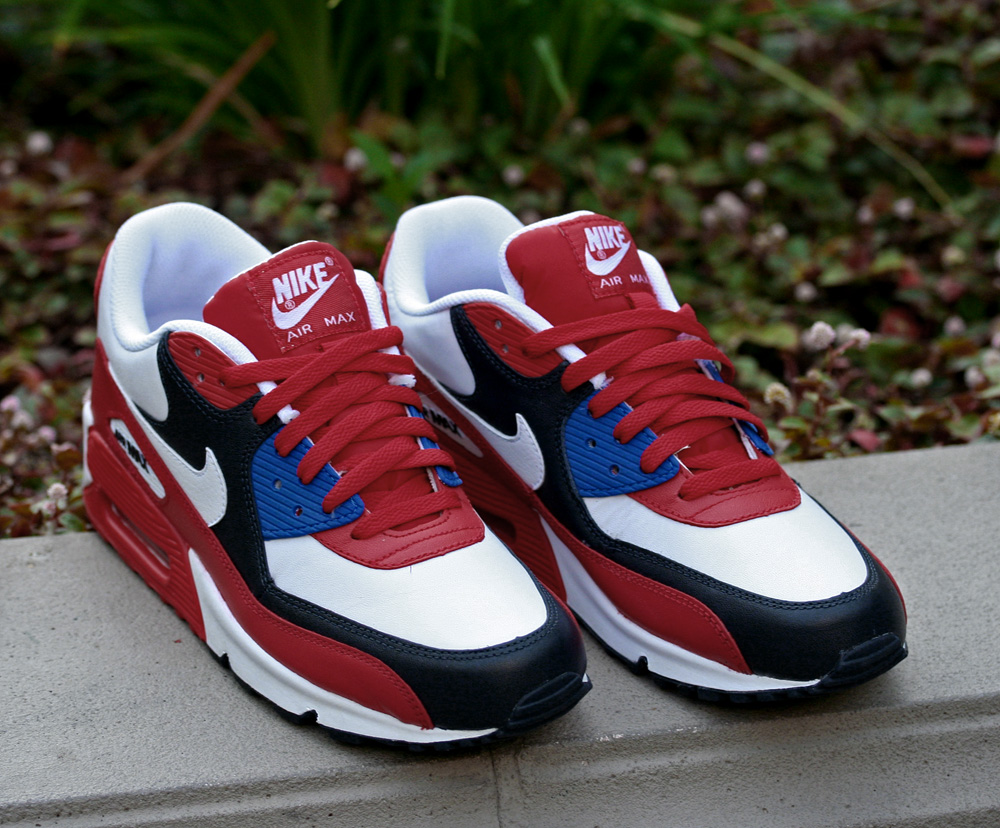 new concept be557 d0a25 Nike Air Max 90 Red/White-Blue