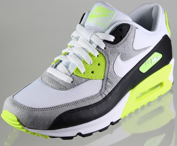 Nike Air Max 90 Huarache White Mean Green Varsity Royal