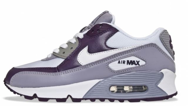 Nike Womens Air Max 90 White Provence Purple