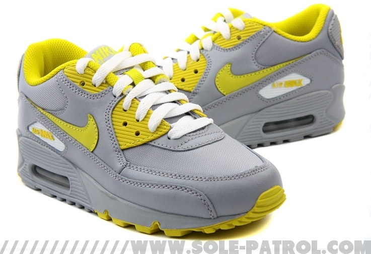 Nike Air Max 90 Womens Wolf GreyHigh Voltage