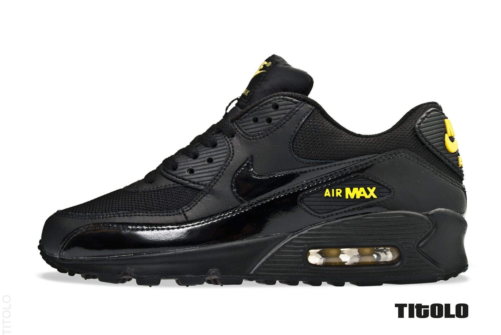 nike air max 90 black black golden sash. Black Bedroom Furniture Sets. Home Design Ideas