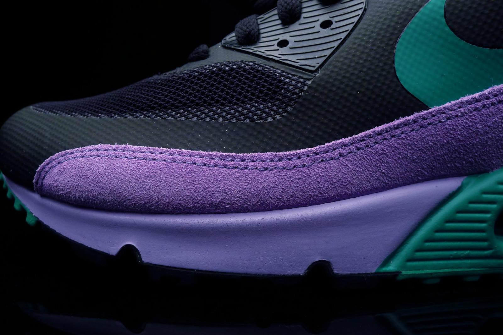 size 40 d74fd ea915 Nike Air Max 90 Premium - Black Stadium Green-Violet