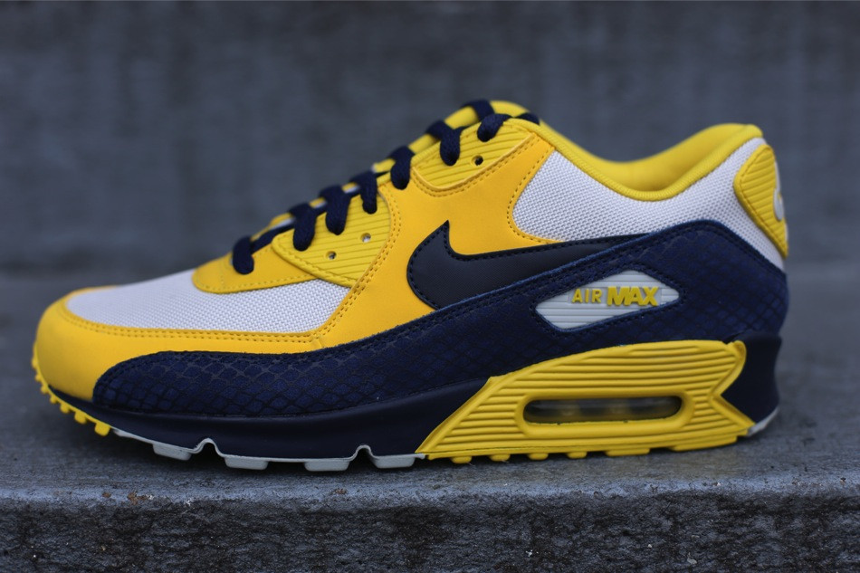 "a314b5493b6b ... Nike Air Max 90 Premium ""Year of the Snake"" Vivid Sulfur Obsidian- ..."