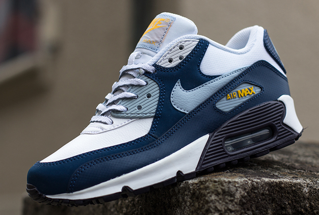 best website fd447 33b22 Nike Air Max 90 GS – Armory Blue  Laser Orange
