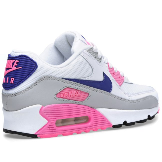big sale 9317f 56a66 NIKE AIR MAX 90 LTR GS YOUTH GIRLS ANTHRACITE WHITE HYPER PINK 833376-003  NEW