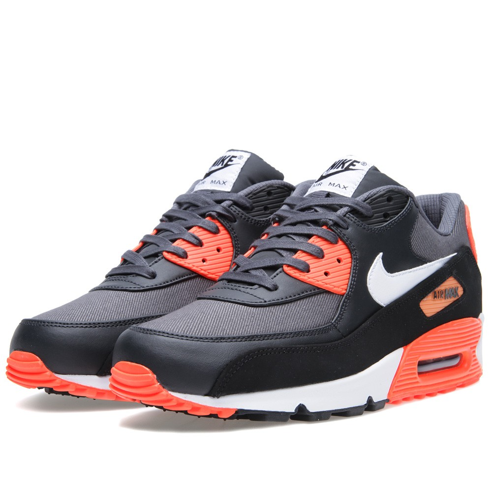 wholesale dealer 45f5c 2cdf2 Nike Air Max 90 Premium Color  Black Grey-Total Crimson-White Style   333888-017