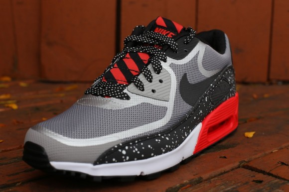 super popular d6fe2 d97d0 Nike Air Max 90 Tape Color  Black Grey-White-Challenge Red Style   616317-006. Price   130.00