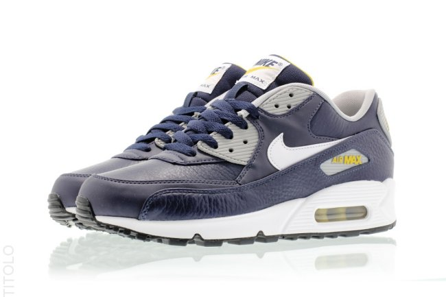 sneakers for cheap 043d9 117e9 Nike Air Max 90. Color  Obsidian White-Wolf Grey-Gold Loden Style  652980 -400