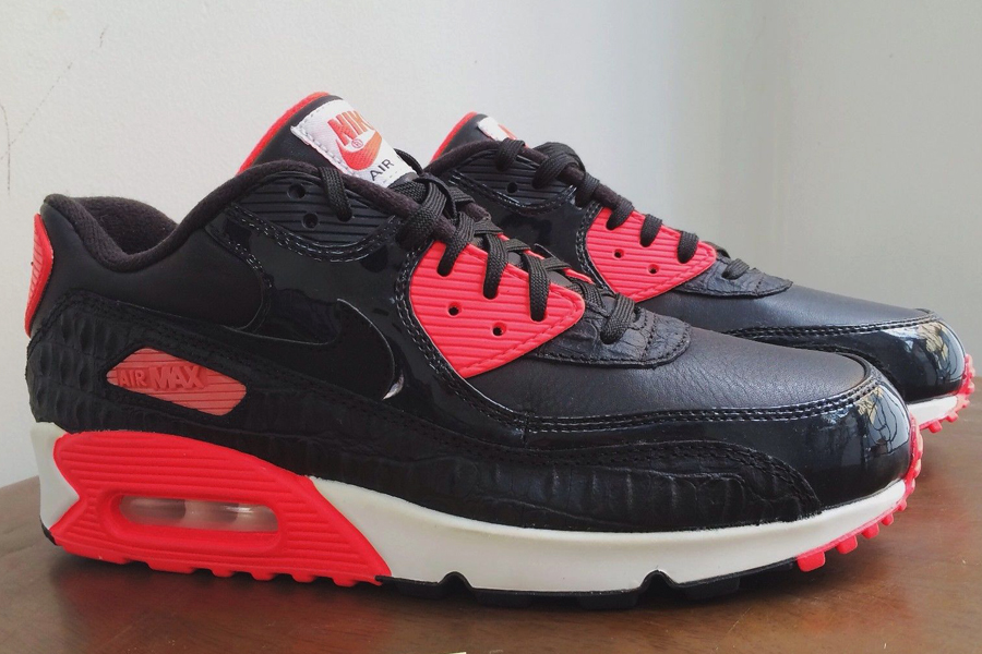 Nike Air Max 90 Black Croc   Infrared - New Images - Air 23 - Air ... 42885026a258