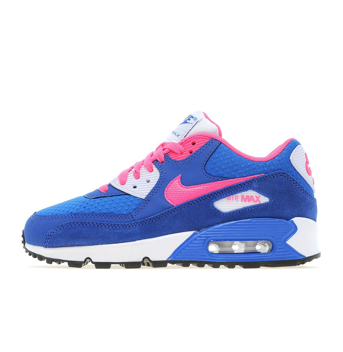 Nike Junior Air Max 90 Mesh Anthracite White Hyper Pink
