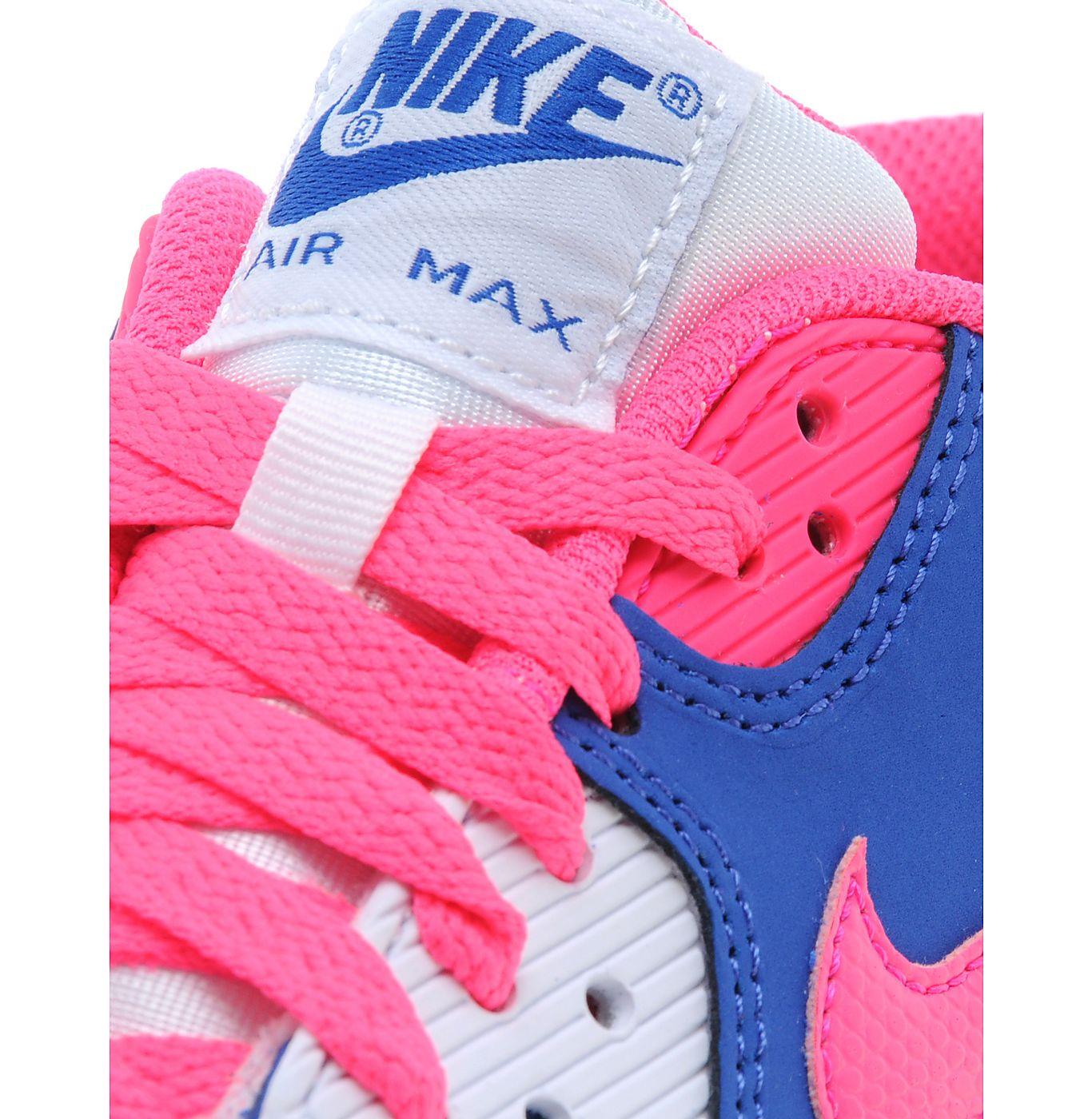 Nike Air Max 90 Gs 2007 Blå Ungdoms Trenere Sko XFvzRhcUIS