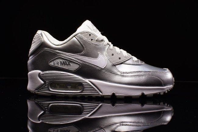 Nike Air Max 90 Gs Metallic Silver