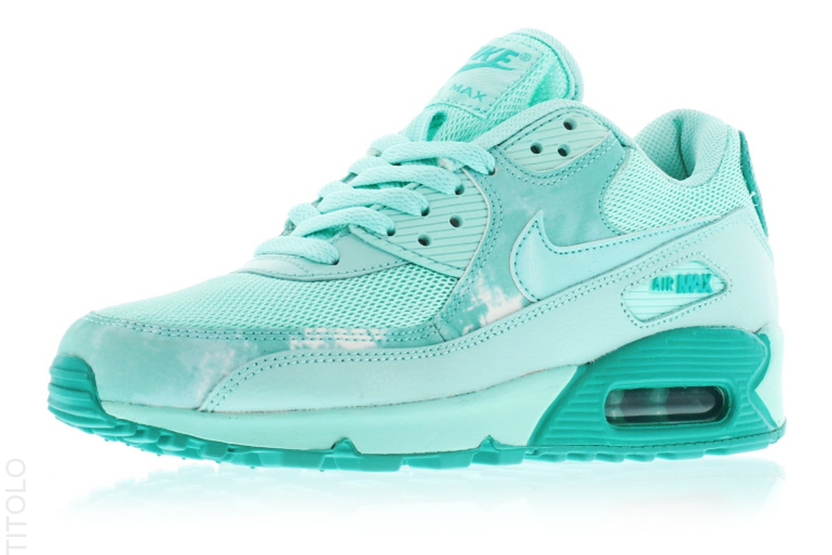 nike air max 90 mint green and grey