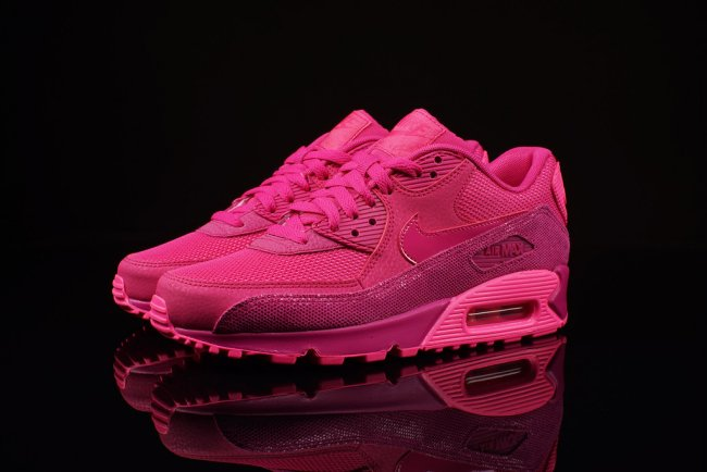super popular 22571 c8c95 Womens Nike Air Max 90 Premium Color  Fireberry Pink Pow Style  443817-600.  Price   119.99