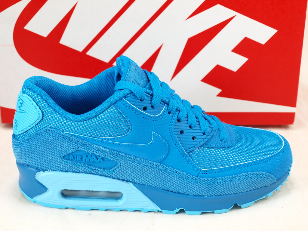 Nike Womens Air Max 90 Premium Light Blue Lacquer