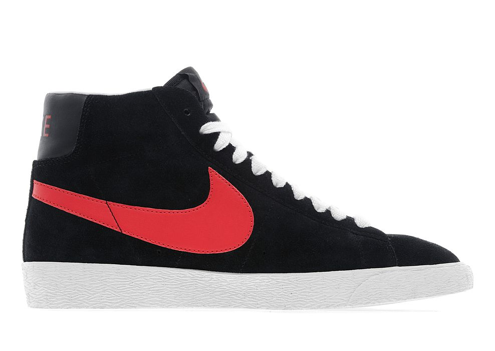 nike blazer red black