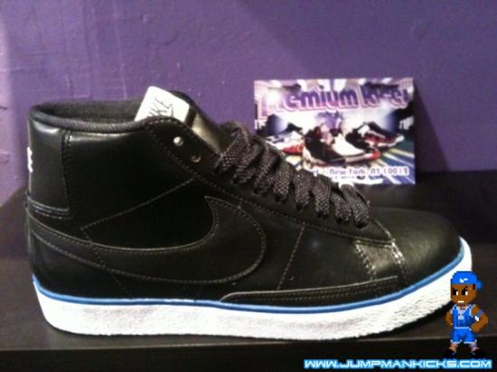 Nike Blazer High Black White-Blue - Air 23 - Air Jordan Release ... b3b79e8e076d
