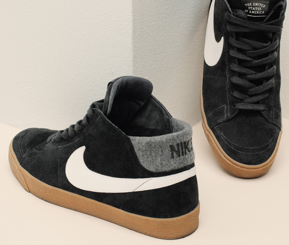 size 40 f286f 2ae91 NIKE SB BLAZER LOW GT GRANT TAYLOR QS BLACK SUEDE WHITE MENS SHOES  716890-001
