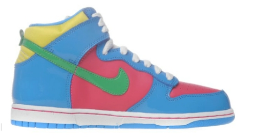GS Nike Dunk High Kids High Top Shoes Comet Blue//Black 308319 407 Multi Sizes