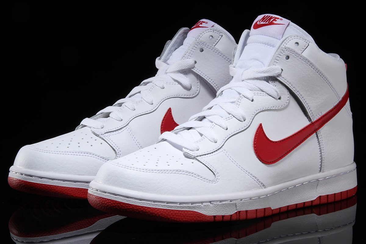 Nike basketball shoes white and red