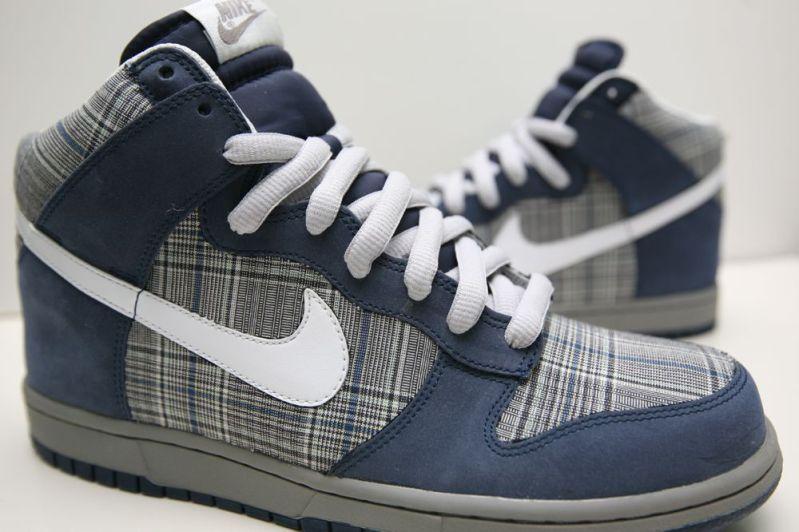 official photos ef466 570bd Nike Dunk High NubuckPlaid Customs