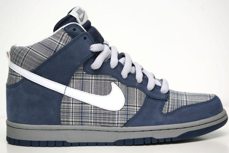 pretty nice cf7d6 96493 Nike Dunk High Nubuck Plaid Customs