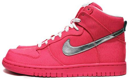 quality design 641d1 e2ea0 This pair has a pink all-canvas upper, and is finished off with a metallic  silver swoosh and white laces. You should see these in stores soon. Nike SB  Dunk ...