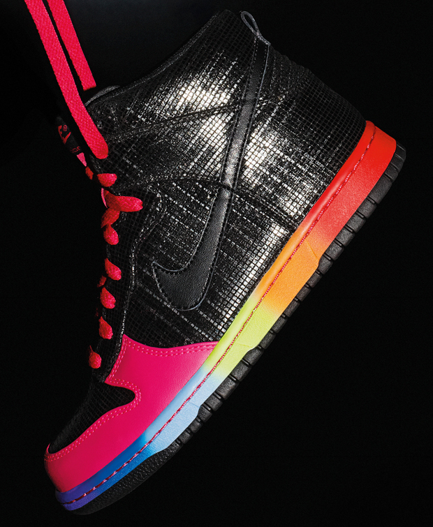 rainbow nike air dunks high