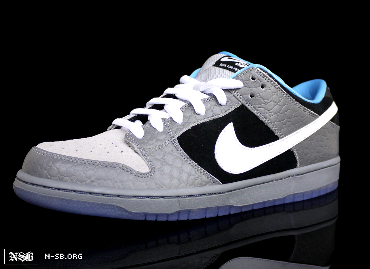 low priced ae647 a0492 buy nike dunk printed white blue background