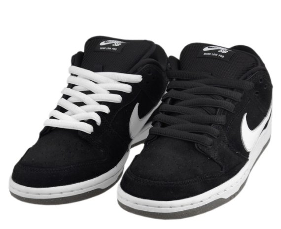 best website ab54b bf193 Nike Dunk Low Pro SB - Black/White-Grey