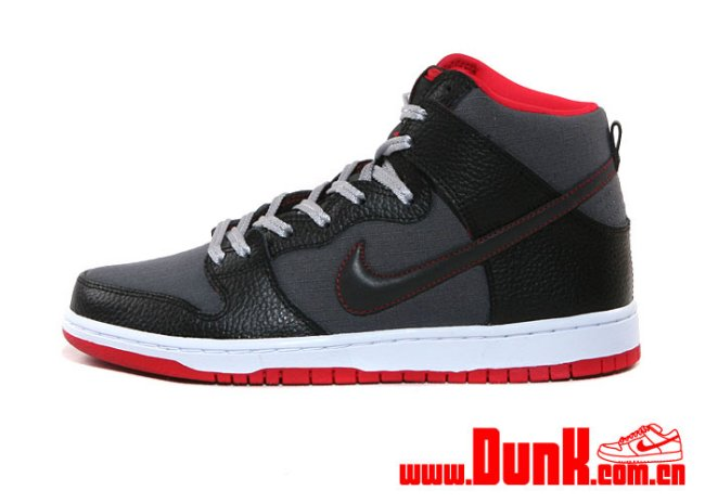 the best attitude bfc67 8c3b9 Nike Mens SB Dunk High Boot Black White Red New In Box.