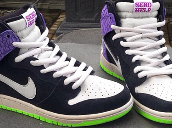 "detailed look 2b7f8 77ea1 Nike Dunk High Pro SB ""SEND HELP"" Size 12."