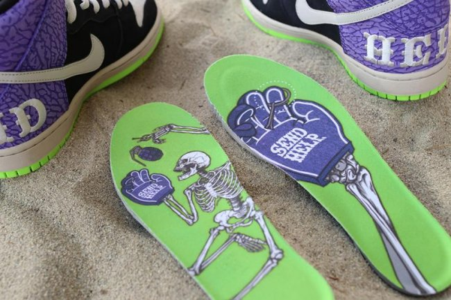 Nike SB Dunk High Premium Send Help 2 Skate Shoes Black Purple  616752-016   – 11 1832d99d9fb2