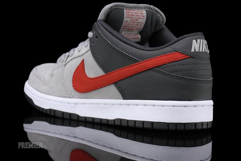 ee2d51cb5d1 Nike Dunk Low Pro SB - Medium Grey Anthracite-University Red
