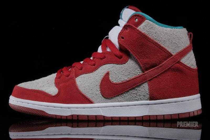 official photos af404 85589 Nike Dunk High Pro SB - Gym Red/White-Turbo Green ...