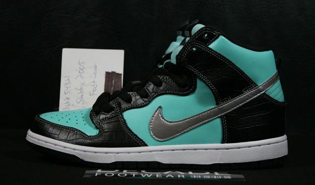 best loved 61276 258f3 Nike Dunk High Premium SB Tiffany Diamond Supply Aqua Clear Black Size 9 Lot