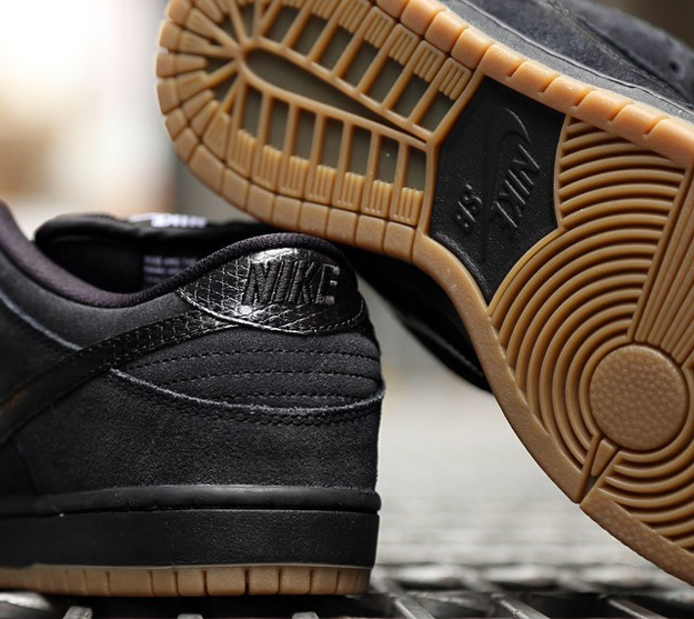 Nike Dunk Low Pro SB Color: Black/Gum Medium Brown-White-Black Style:  304292-045. Release: 08/??/2014. Price: $85.00