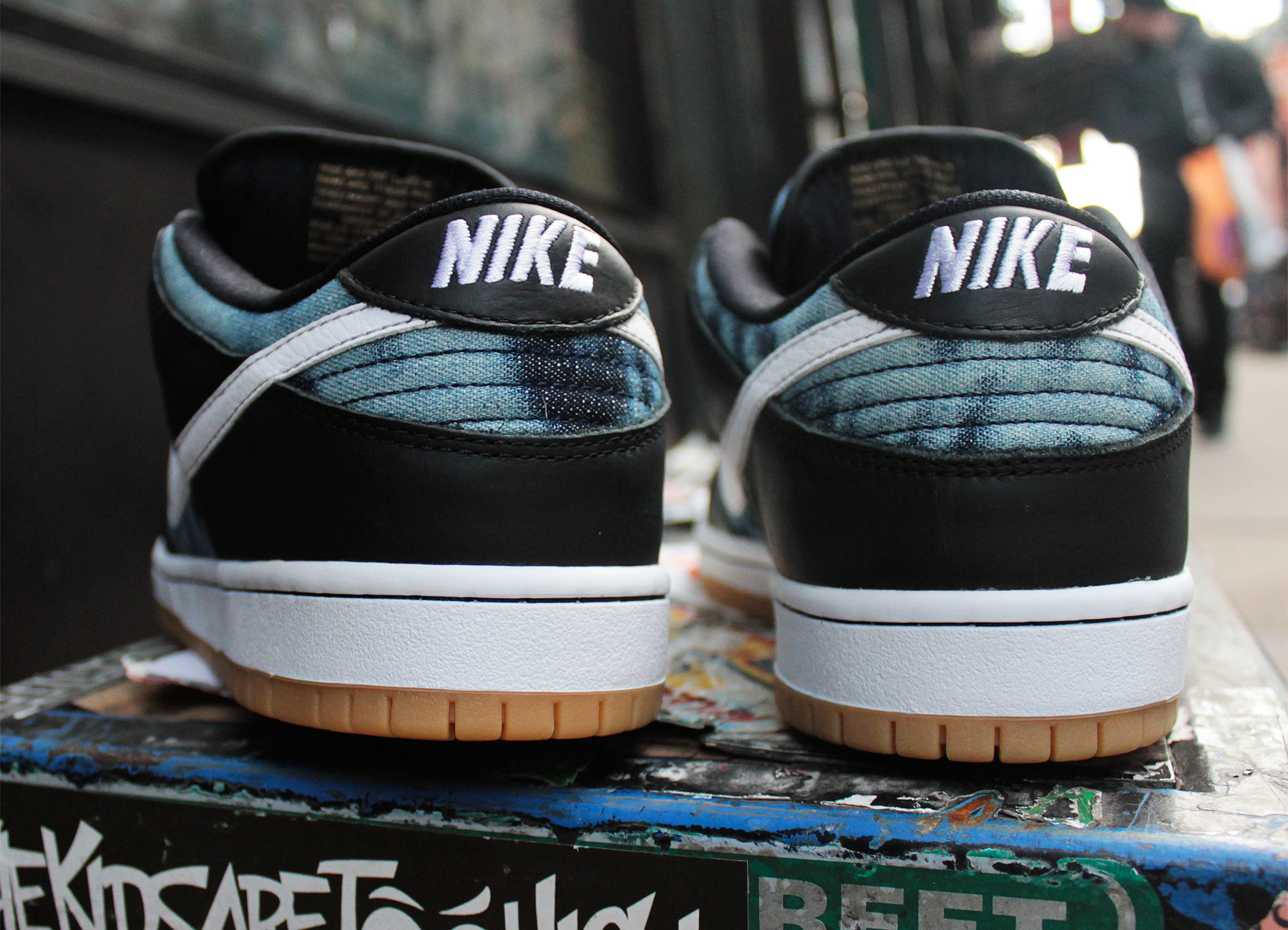 premium selection 31f88 e5a09 Nike SB Dunk Low Fast Times Black Navy White Sz 9 745954-014