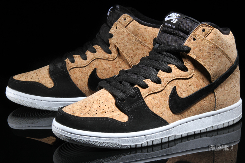 new arrival 18b0b 9e654 Click here to purchase the Nike Dunk High SB Cork on Amazon. Nike Dunk High  Premium SB Color  Black Black-Hazelnut-White