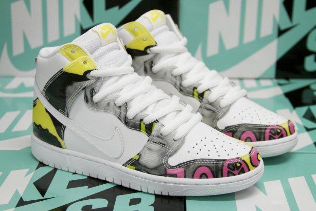 Foamposite Fireflies Nike Dunk High SB &quo...