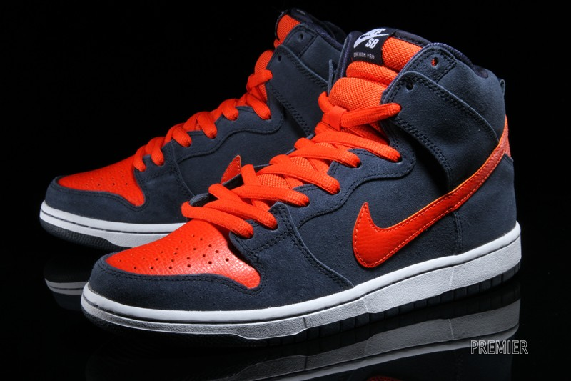 half off d291b 7163b Nike Dunk High Pro SB – Obsidian   Team Orange-White – New Images