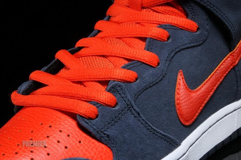 bcb4bffb Nike Dunk High Pro SB - Obsidian / Team Orange-White - New Images ...