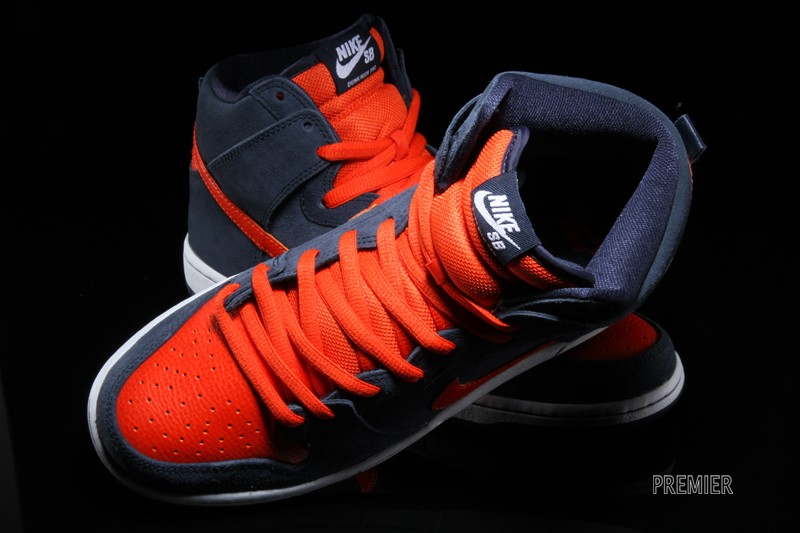 new styles d8d96 2987d Nike Dunk High Pro SB - Obsidian  Team Orange-White - New Images - Air 23  - Air Jordan Release Dates, Foamposite, Air Max, and More