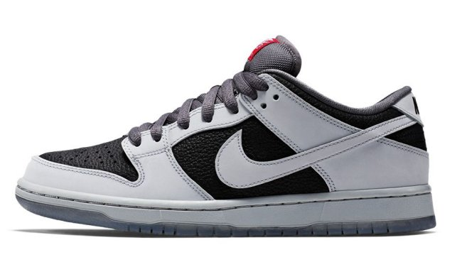 outlet store c9024 9fdaf Nike Dunk Low Premium SB Color  Wolf Grey Wolf Grey-Black-Challenge Red  Style  504750-020. Release Date  06 27 2015. Price   110.00