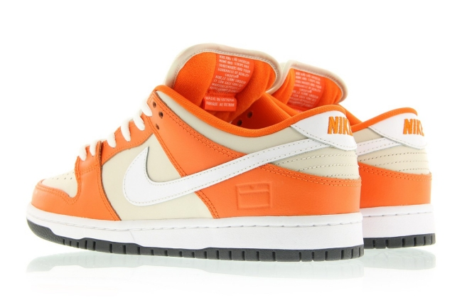 nike dunk low premium sb orange box