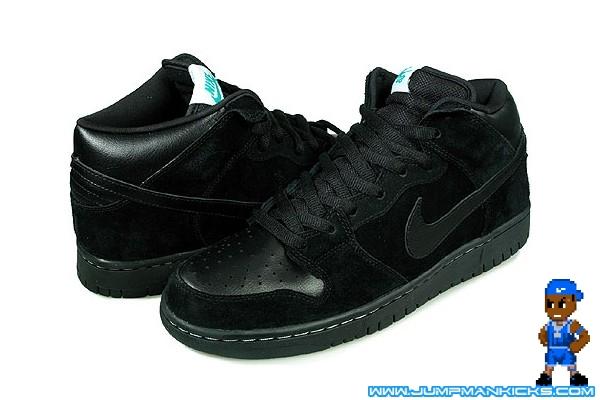 online store 58f0b 51ddc Nike Dunk Mid SB Premium Color BlackBlack-Aquamarine Style 314381-004