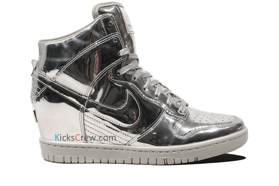 ff81a945e ... canada nike dunk sky hi sneakerboot 2.0 womens size 7 metallic silver  black 684954 001 d9556