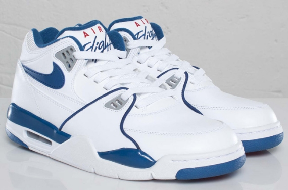 new style ff511 8d5f9 Nike Air Flight  89. Color  White Dark Royal Blue-Wolf Grey–Varsity Red  Style  306252-100